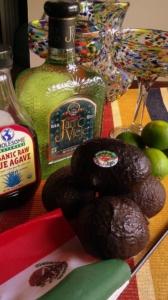 Ingredients for Avocado Love Margarita