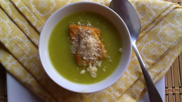 Roasted leek and potato soup