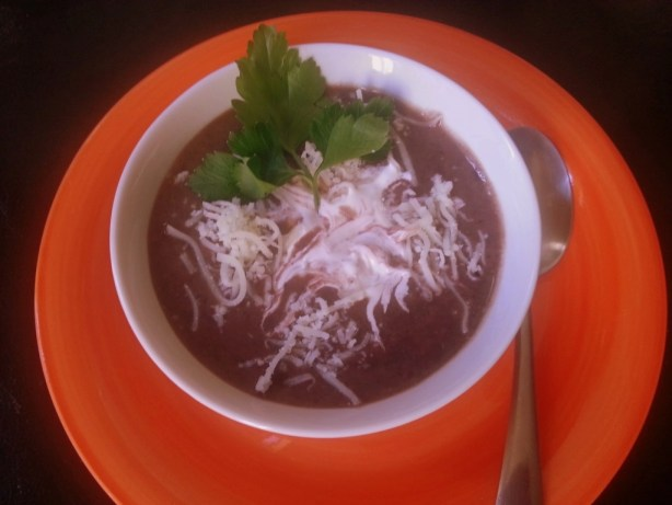 Black Bean Cream Soup