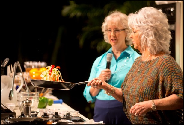 Paula Deen prepared her Sizzling Chicken Fajitas in a New Light, which was also Healthy 100 Approved in addition to 9 other recipes from Paula Deen