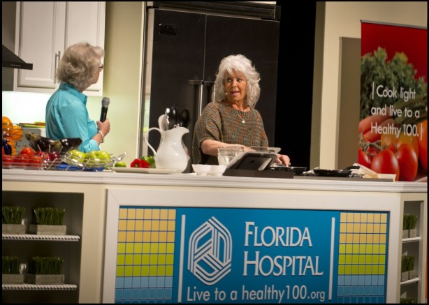 Celebrity chef Paula Deen shared her personal story about making healthy lifestyle changes, as well as some of the diabetes-friendly recipes that she created with the Diabetes in a New Light® campaign. She was joined on stage by Marti White, CDE, RN, with Novo Nordisk