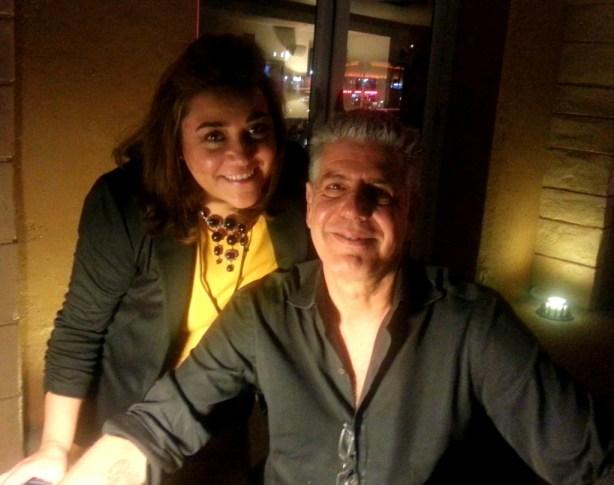Adriana Martin and Anthony Bourdain