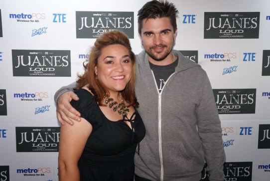 Adriana Martin with Juanes at Hard Rock Live - Juanes' Loud & Unplugged Tour Sponsored by Brisk Iced Tea