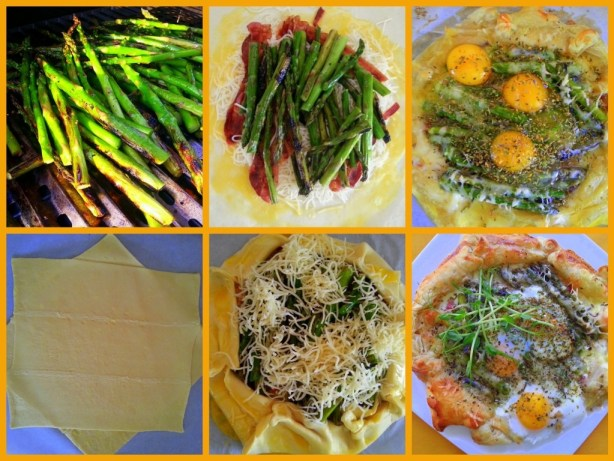 How to prepare Egg Crostata with Grilled Asparagus
