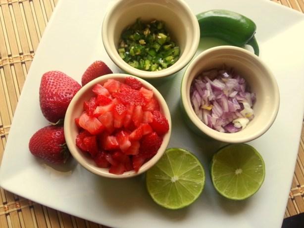 Strawberry Jalapeño Salsa Ingredients