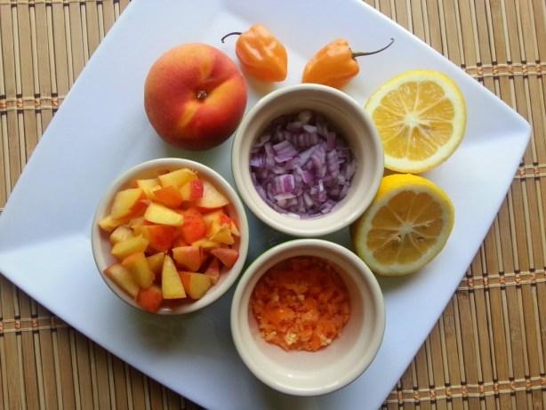 Habanero Peach Salsa Ingredients