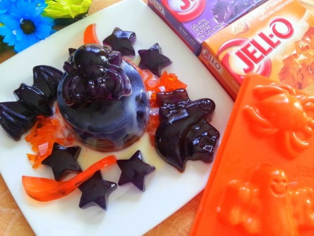 Halloween Jello Drizzled with Condensed Milk #ABRecipes
