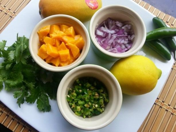 Mango and serrano chile salsa ingredients #ABRecipes