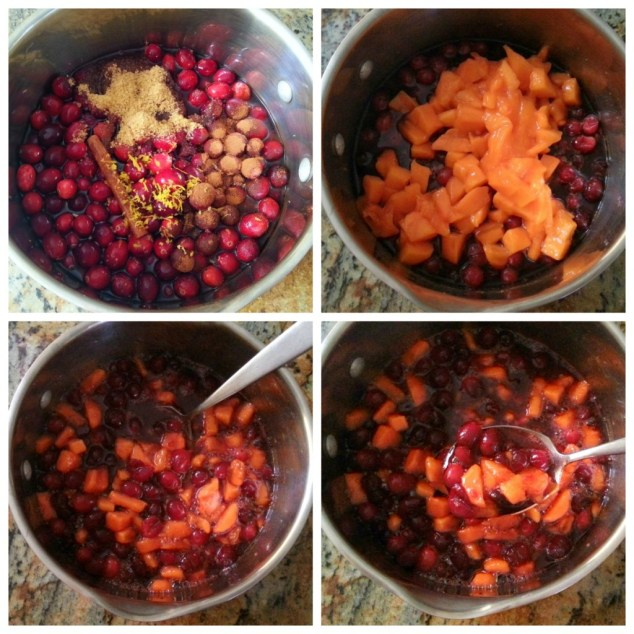 How to make cranberry sauce with persimmon #ABRecipes