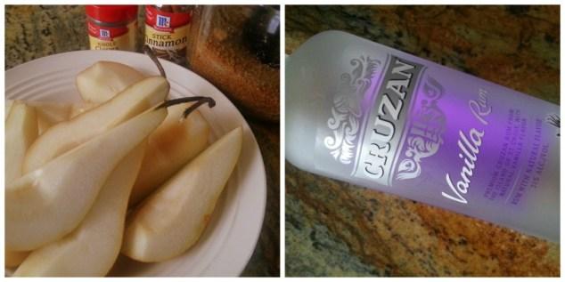 Ingredients to prepare Vanilla Rum Pears #ABRrecipes