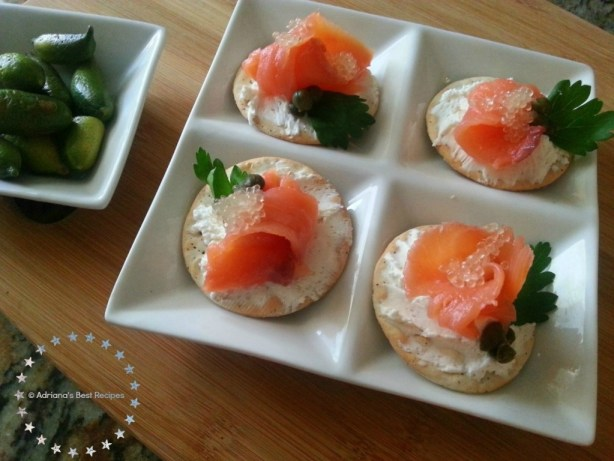 Citrus Caviar Salmon Bites the perfect appetizer for entertaining at home #ABRecipes
