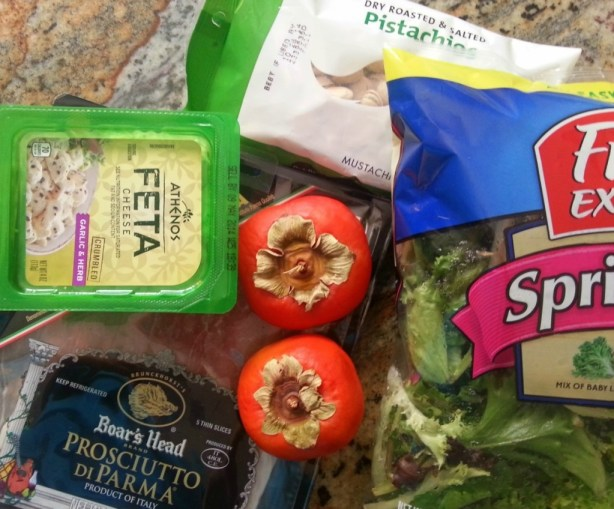 Ingredients for the Persimmon Prosciutto Salad #ABRecipes