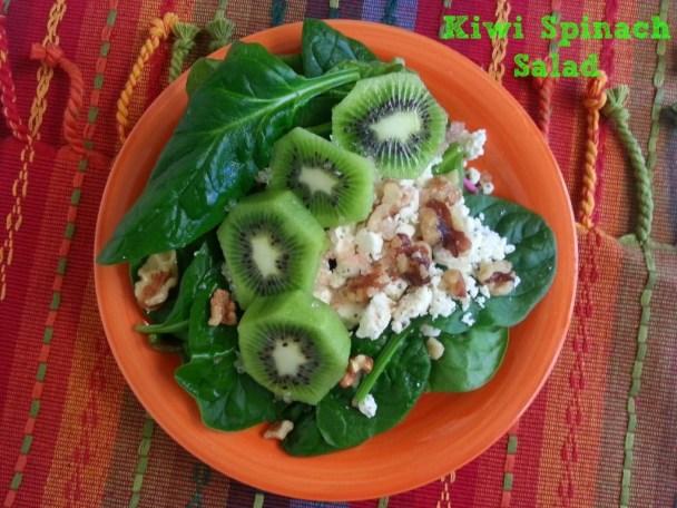 Kiwi spinach salad #ABRecipes