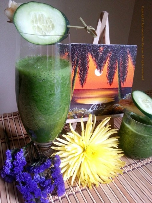 My Favorite Green Juice and Painting from Cuba #ABRecipes