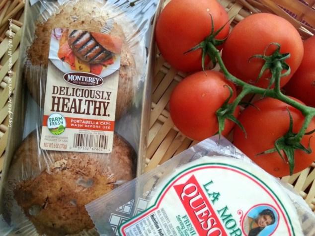 Ingredients for Mushroom Portabella Caprese #MushroomMakeover