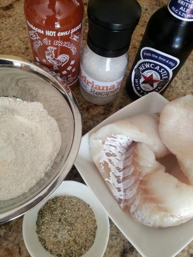 Ingredients for preparing Alaskan Cod Sriracha Bites #ABRecipes