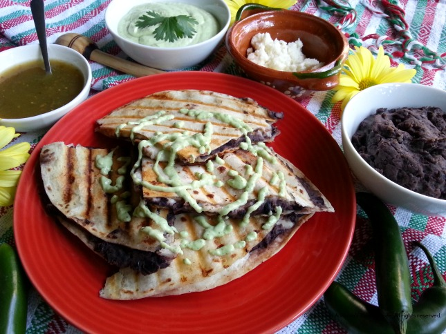 Refried Beans and Cheese Quesadilla #GoAutentico #QuesadillaCookOff #ad