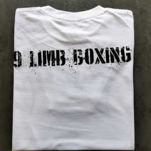 Kids White Fujau 9 Limb Boxing T-Shirt