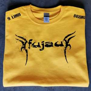 Youth Yellow Fujau 9 Limb Boxing T-Shirt
