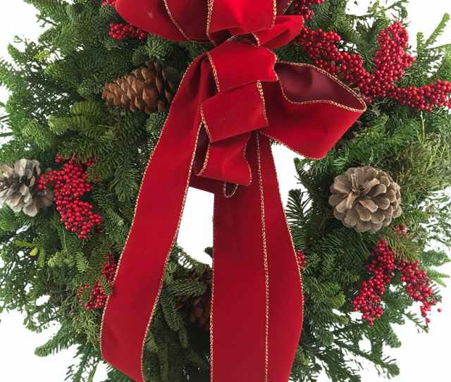 This Classic Symbol Of Christmas Cheer Will Dress Any Headstone With Beauty And Holiday Warmth Made From Fresh Mixed Evergreens It Includes Pine Cones