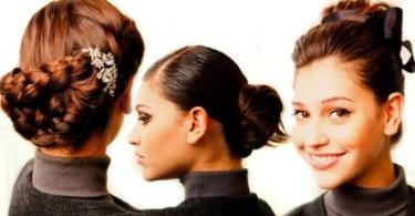 penteados com coques diferentes - como fazer