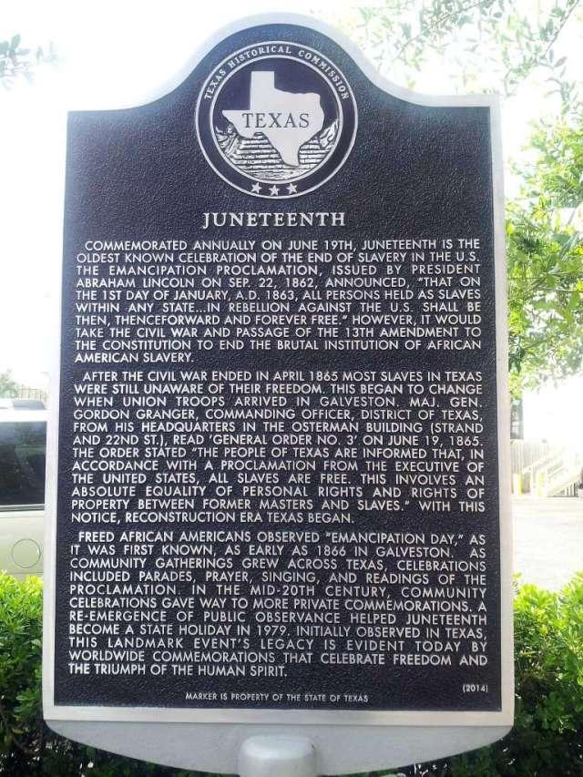 Juneteenth Plaque