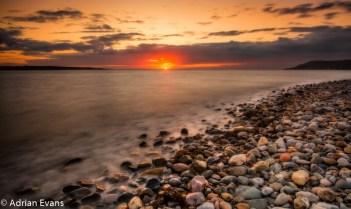 Sunset Deganwy Beach north wales UK