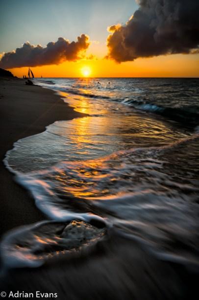 sunset at Puka beach Boracay Philippines