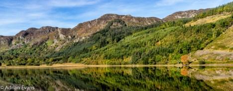 Wonderful reflections at Crafnant lake north Wales UK