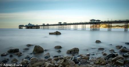 Llandudno Pier a seaside resort of Llandudno on the coast of North Wales between Bangor and Colwyn Bay. At 2,295 ft the pier is the longest in Wales and the fifth longest in England and Wales