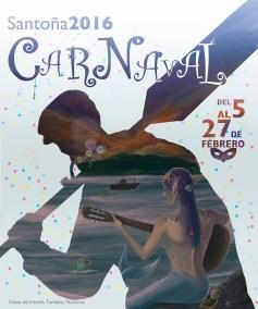 Diseño Ilustración Cartel Carnaval Santoña