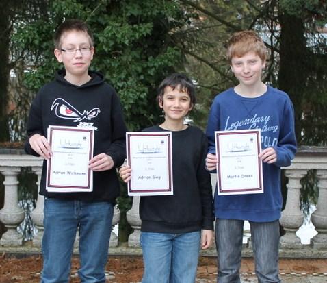 Siegerehrung Mittelfränkische Meisterschaft Blitzschach U14 2013