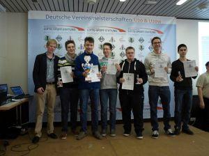 U20-Team des SC Forchheim bei der DVM 2013 in Osnabrück mit Pokal für Platz 3