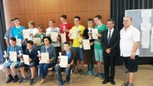 Siegerehrung der Bayerischen Blitzmeisterschaft 2015 in Kelheim