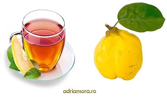 beneficiile ceaiului de gutui