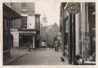 Original photograph of Chapel Place looking south circa 1960.