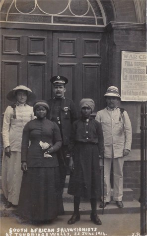 Postcard of South African Salvationists at Tunbridge Wells, 22nd June 1914.