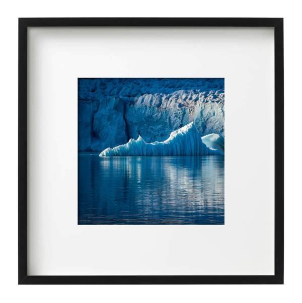 Evening Light on a Glacier Front East Greenland Black Square Frame