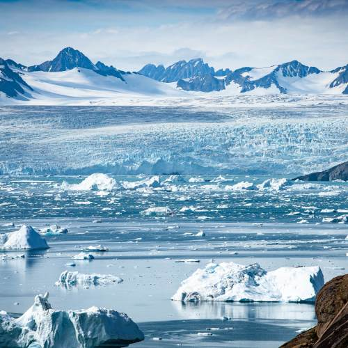 East Greenland Icebergs Glacier Kangerdlugssuaq Fjord