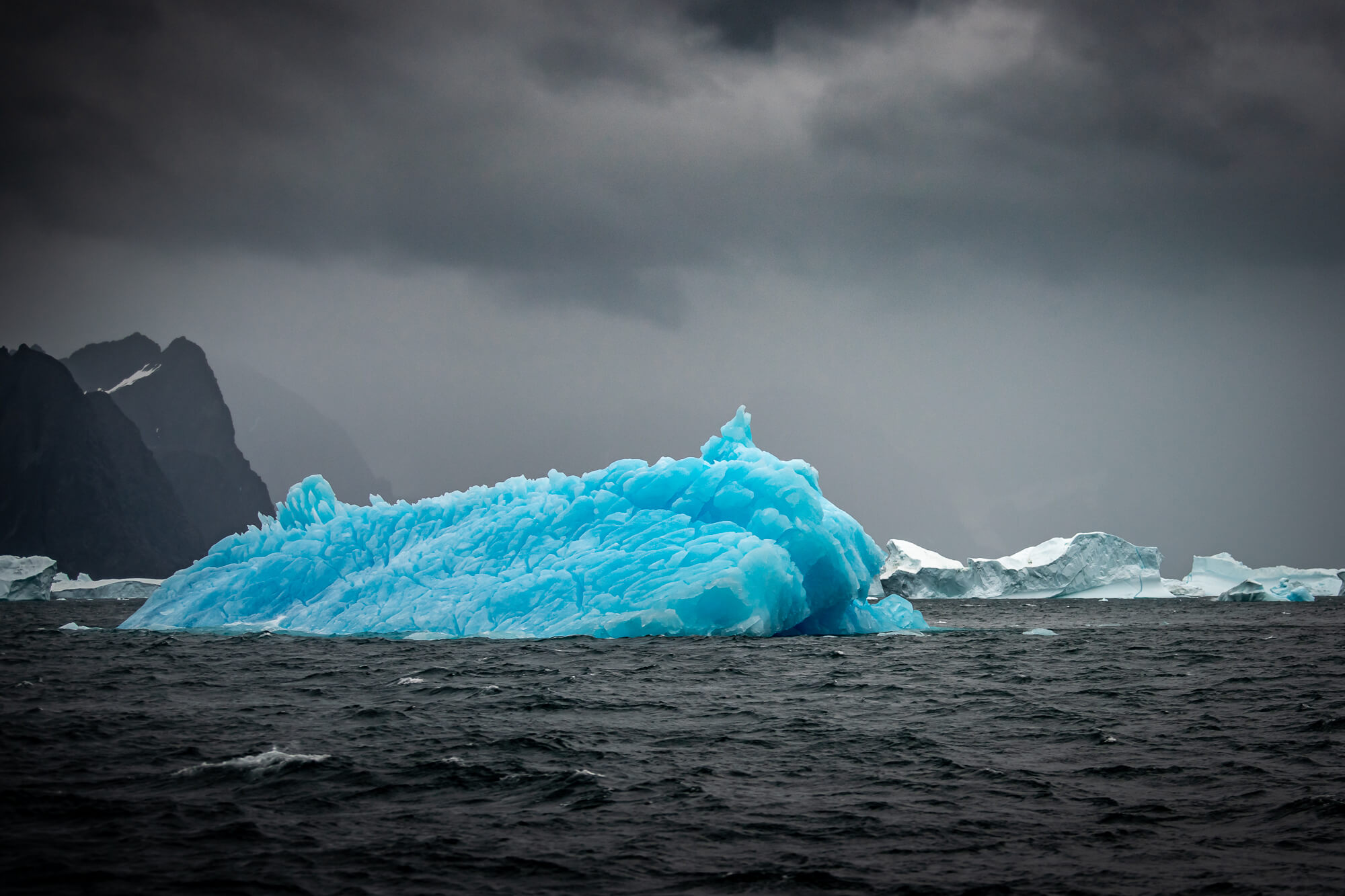 East Greenland Electric Blue Iceberg