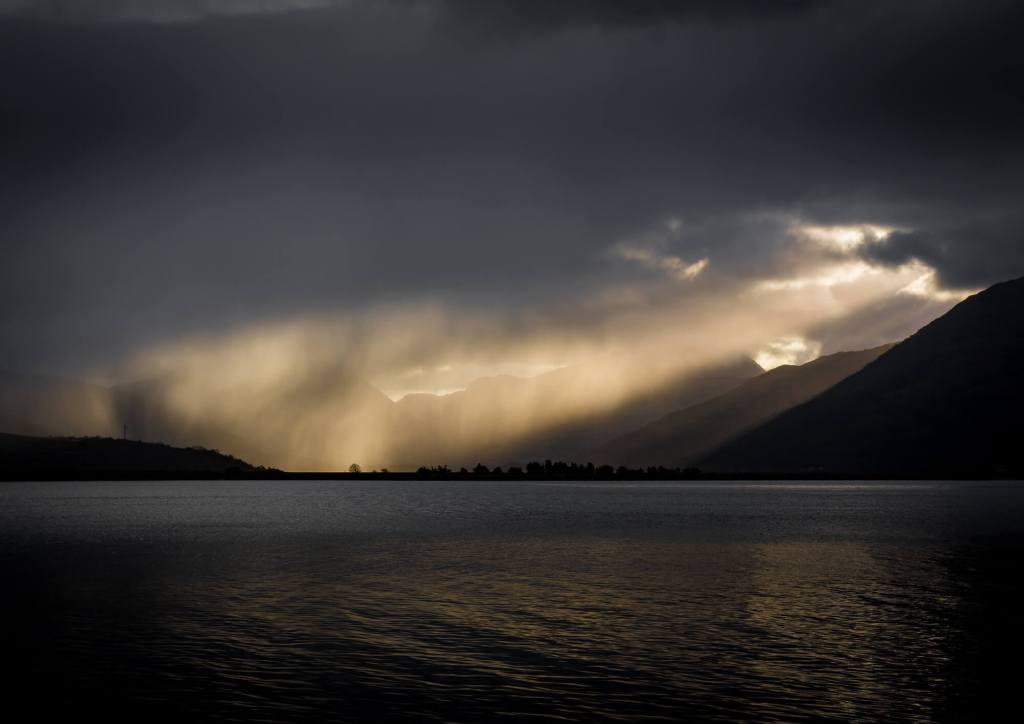 Loch Sunart sunbeam - West Highlands, Scotland