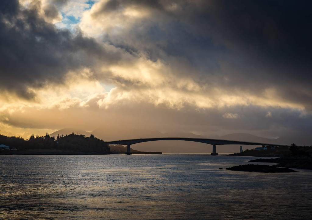 Bridge over the sea to Skye,Scotland.