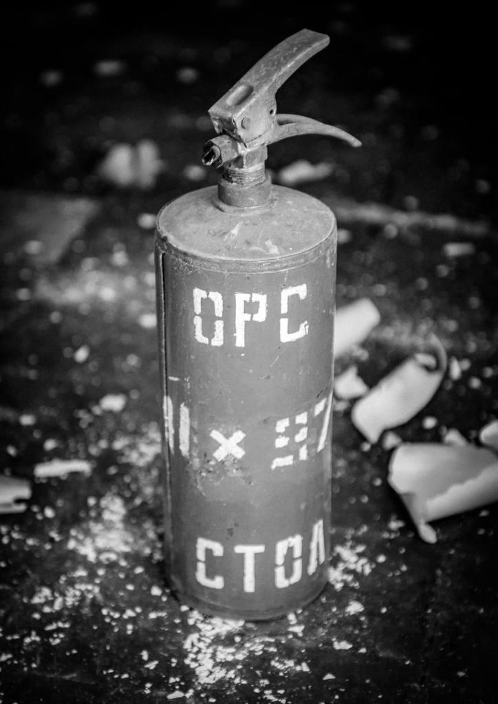 Spitsbergen Pyramiden Fire Extinguisher