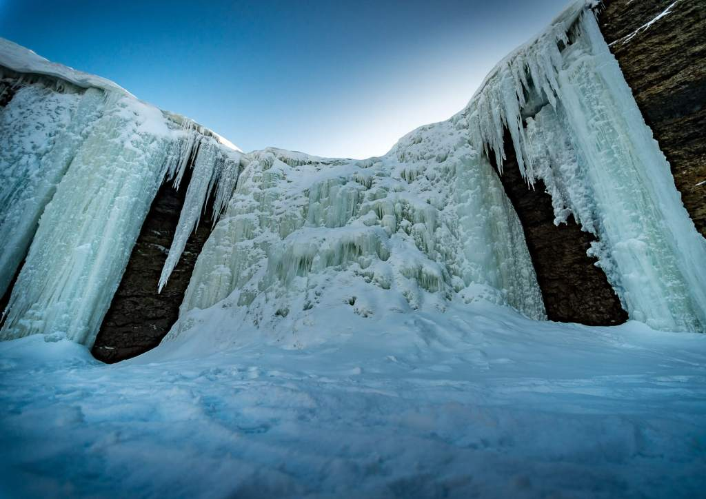 Longyearbyen Frozen Waterfall