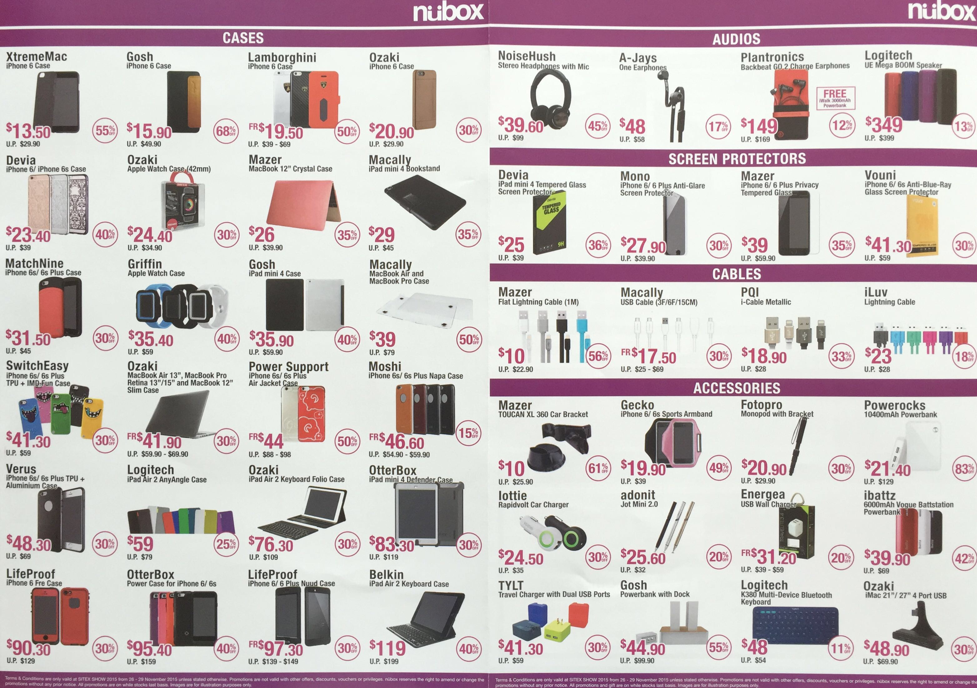 NUBOX @ SITEX 2015 - Cases and Accessories