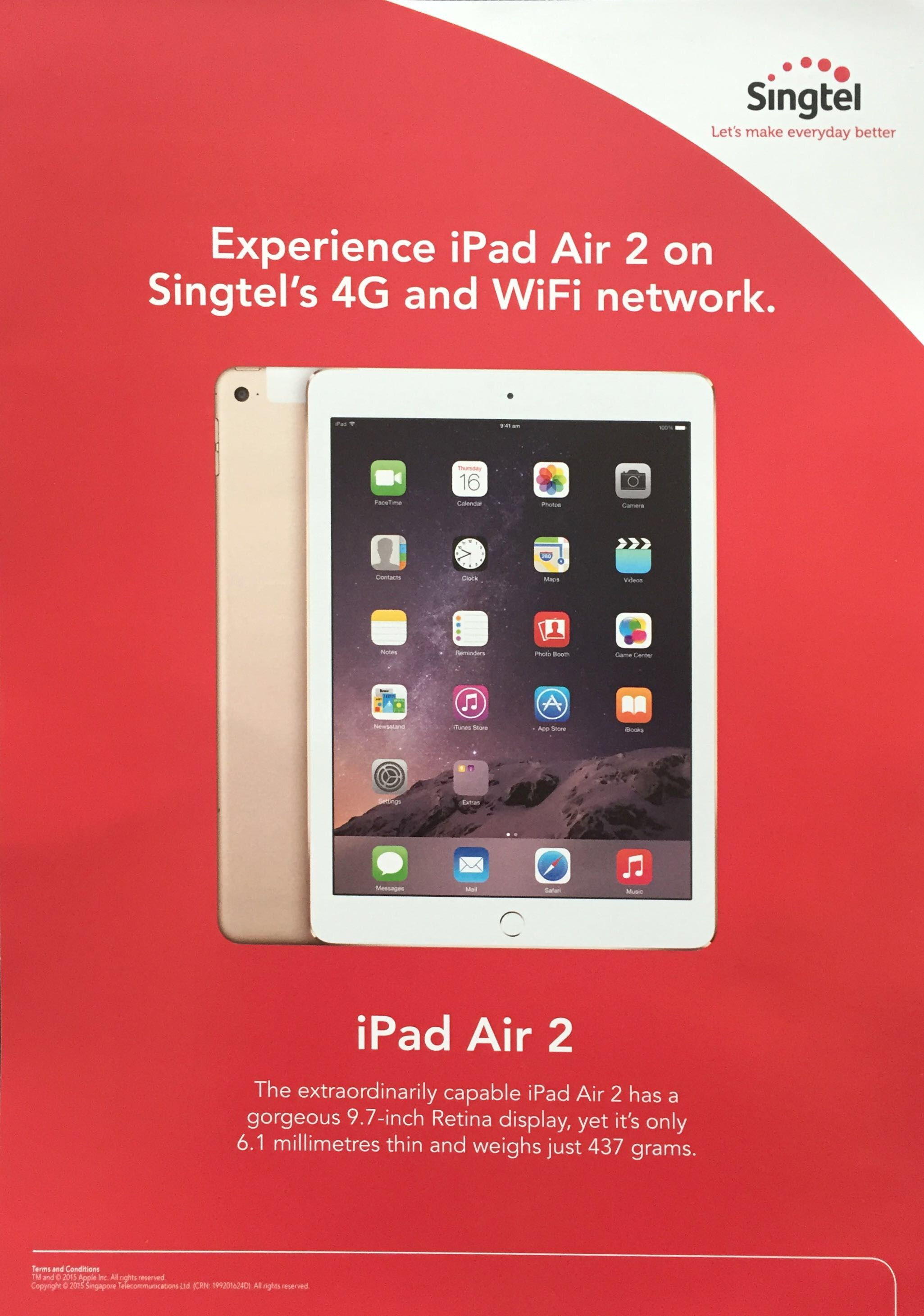 Singtel @ SITEX 2015 - iPad Air 2