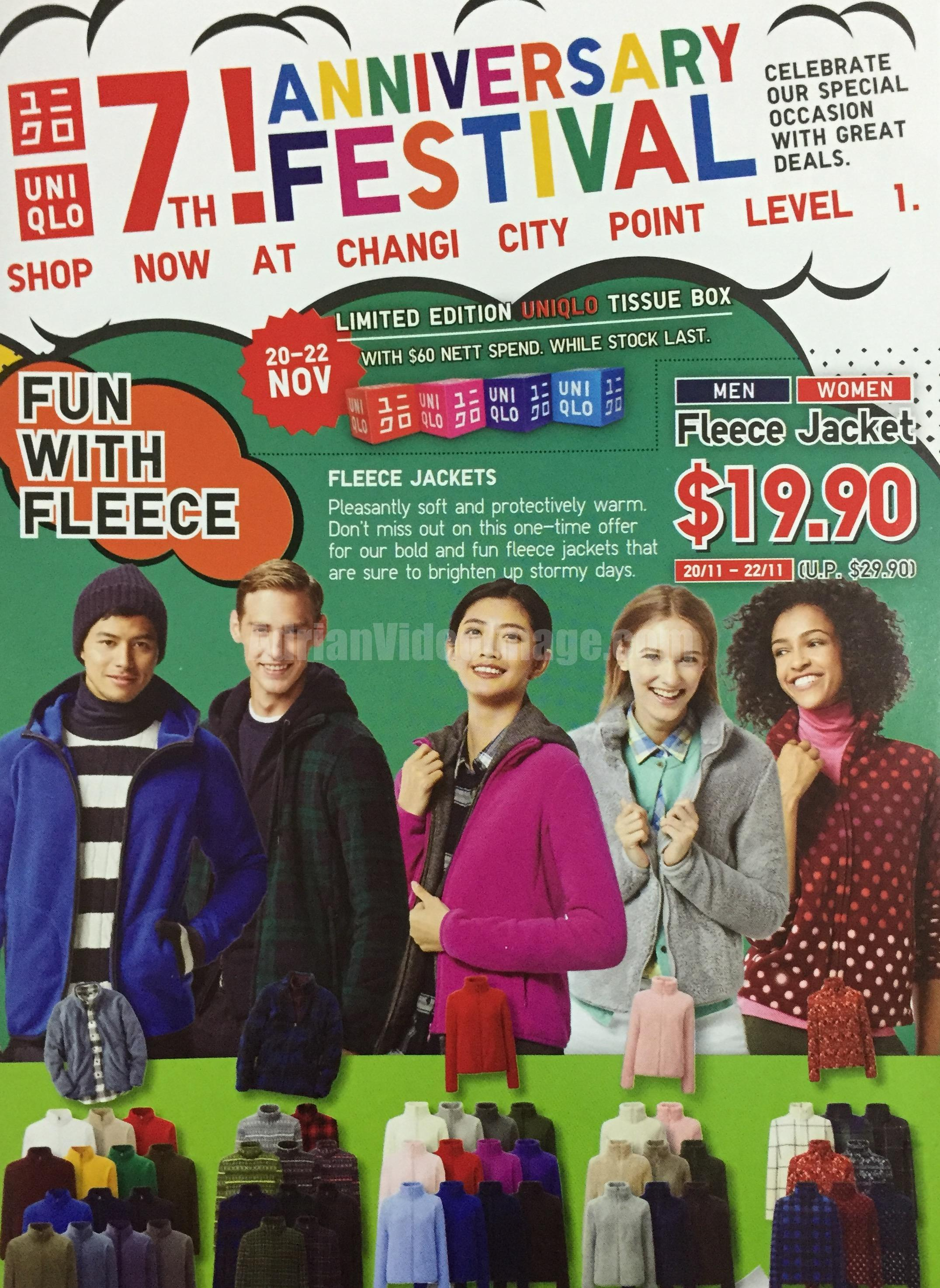 [pg1] UNIQLO Singapore 7th Anniversary Festival Sale 2015 @ Changi City Point