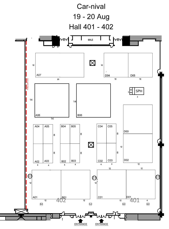 Car-nival 2017 Floor Plan