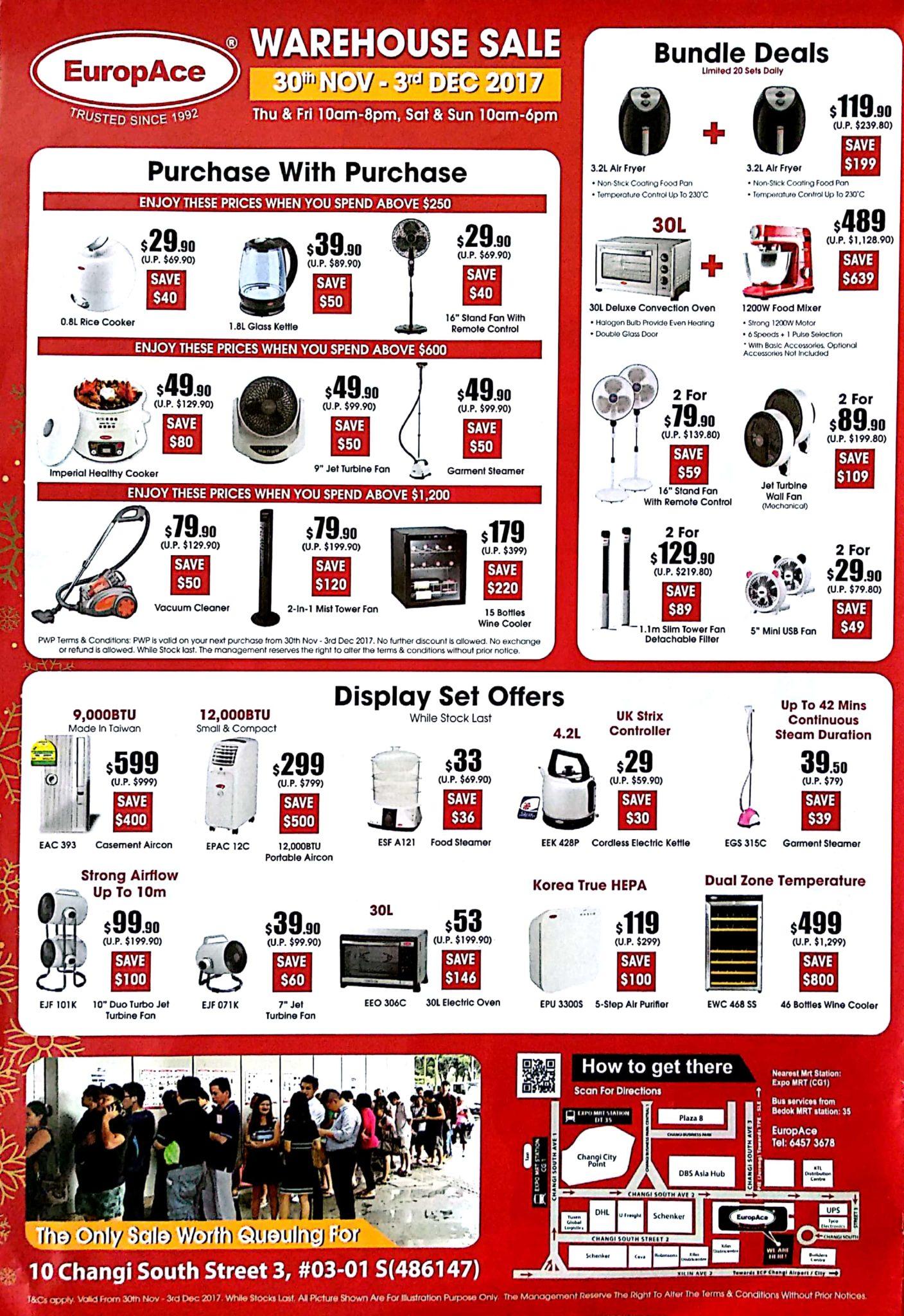 EuropAce Warehouse Sale | 30 Nov - 3 Dec 2017 | Brochure pg4
