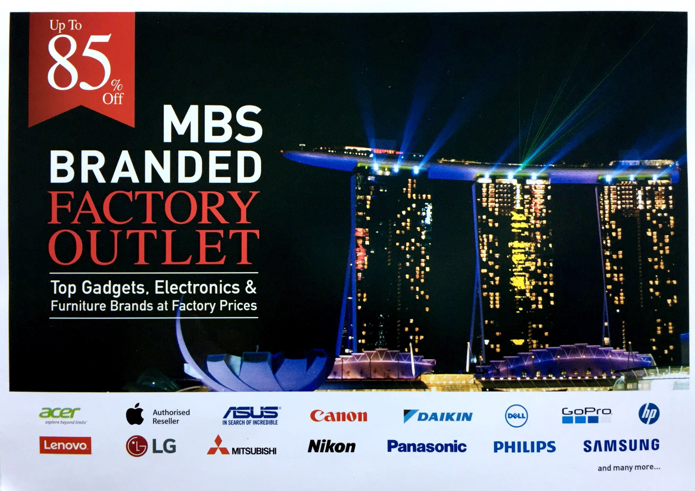 MBS Branded Factory Outlet | 20 to 22 October 2017 | 11am to 9pm | Marina Bay Sands Convention Centre Level 1 Hall A and B| pg1